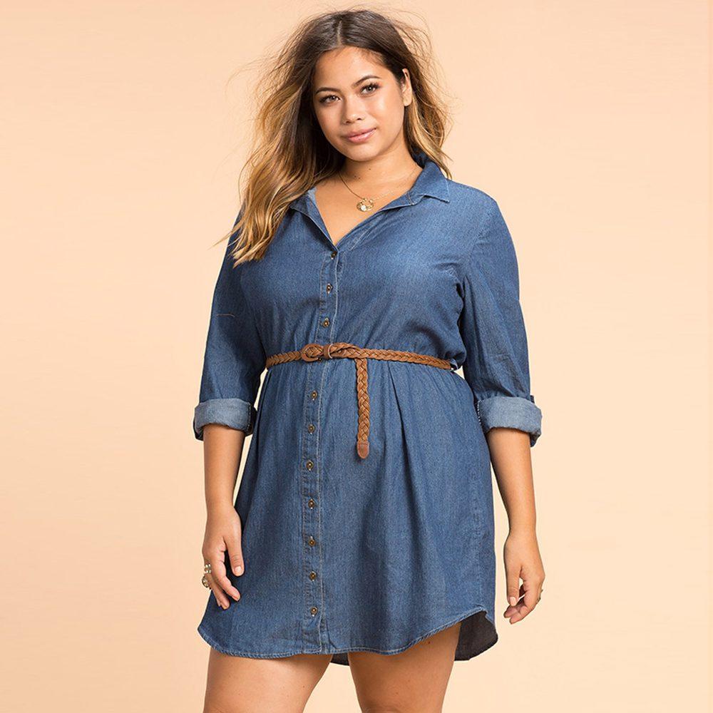 Plus Size Fashion Women Dress Casual Loose Dress Long ...